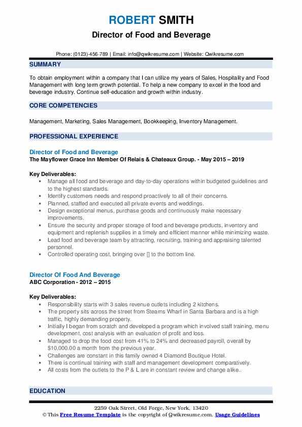 resume education director