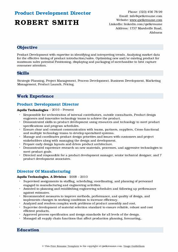 Director of Product Development Resume Samples QwikResume - product development resume sample