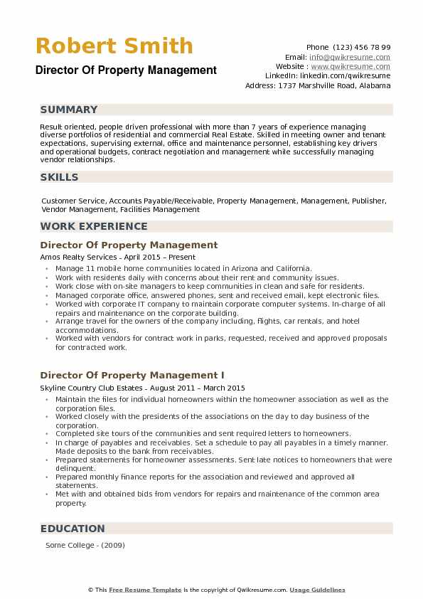 marketing director resume samples