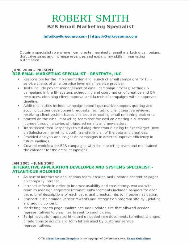 Email Marketing Specialist Resume Samples QwikResume - marketing specialist resume sample