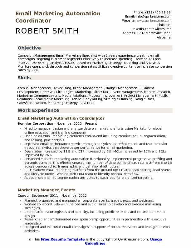Email Marketing Specialist Resume Samples QwikResume - business development resume example
