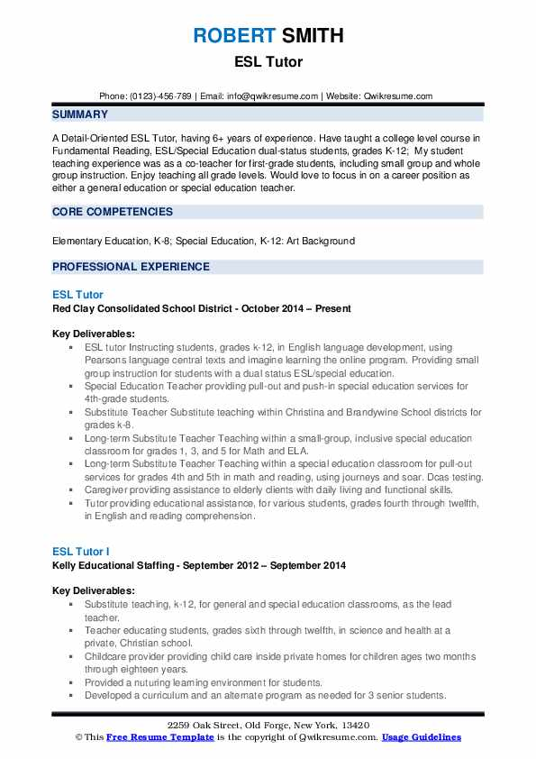 resume model for ug students