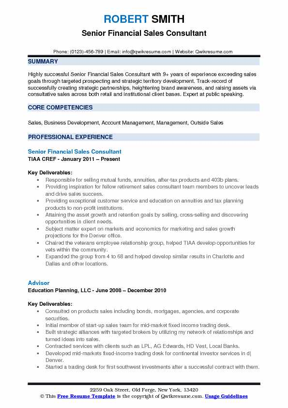 Financial Sales Consultant Resume Samples QwikResume - financial sales consultant sample resume