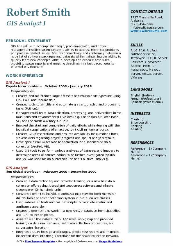 GIS Analyst Resume Samples QwikResumeresume logistics manager resume