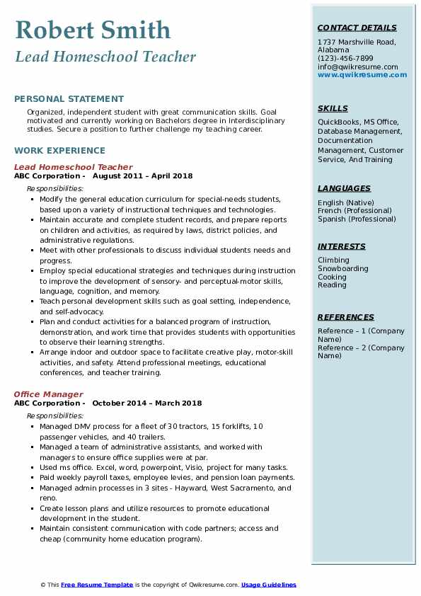 work from home resume sample