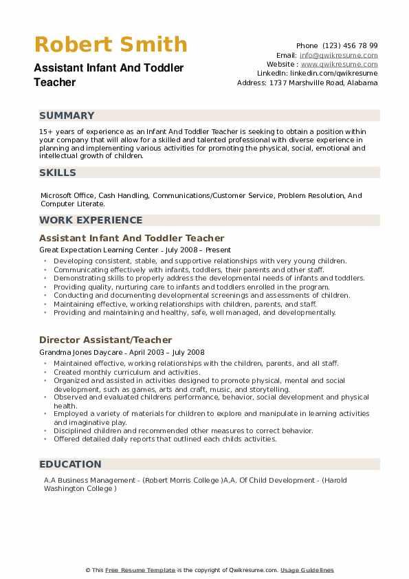 resume headline example for teacher