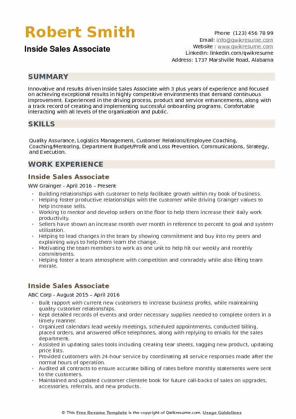 sale associate resume samples