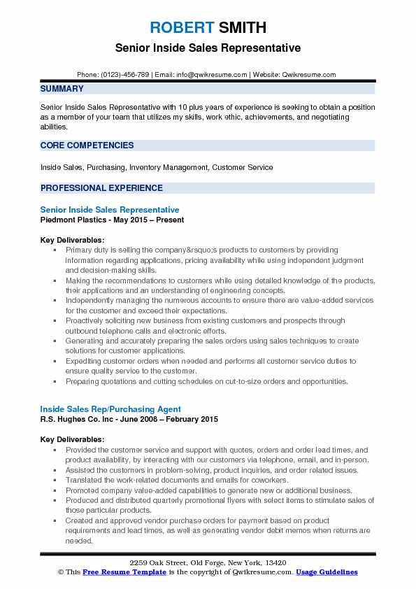 Inside Sales Rep Resume Samples QwikResume - inside sales representative resume sample