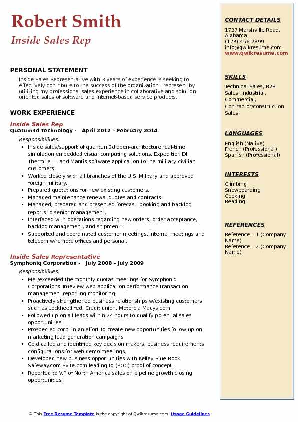 Inside Sales Rep Resume Samples QwikResume - inside sales representative resume sample