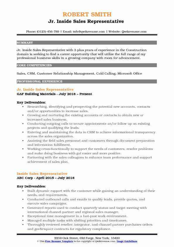 Inside Sales Rep Resume typical restaurant sales manager resume - inside sales representative sample resume