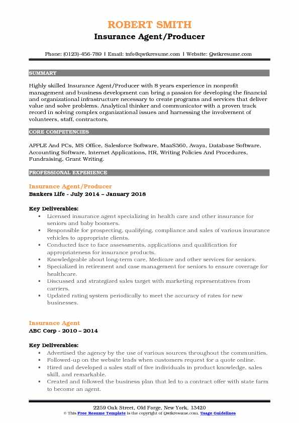 Insurance Sales Resume Pdf - Insurance Sales Manager Resume
