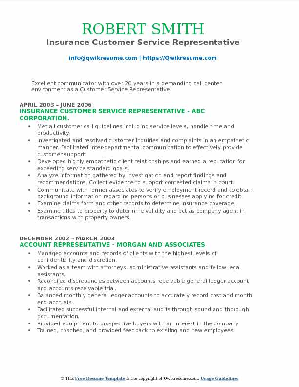 Insurance Customer Service Representative Resume Samples QwikResume - call center representative resume