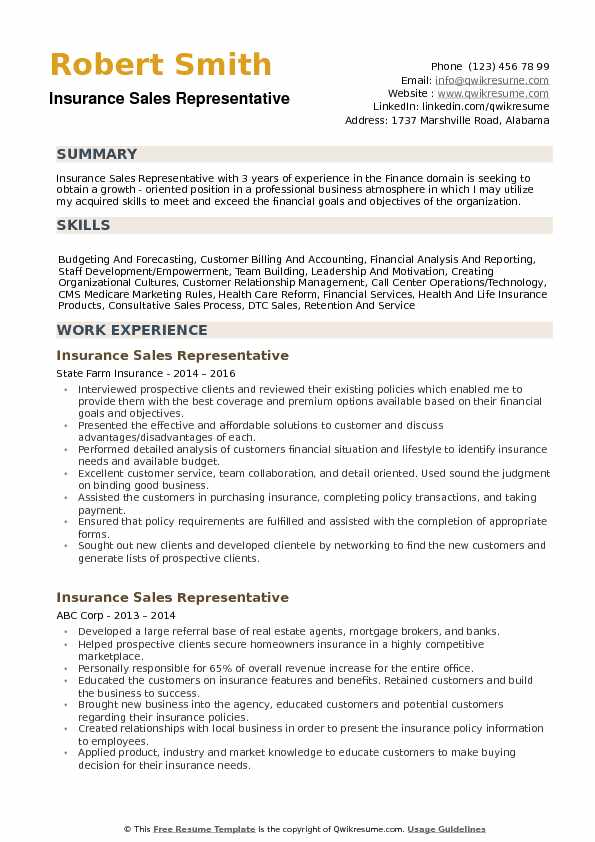 Insurance Sales Representative Resume Samples QwikResume - insurance sales representative sample resume