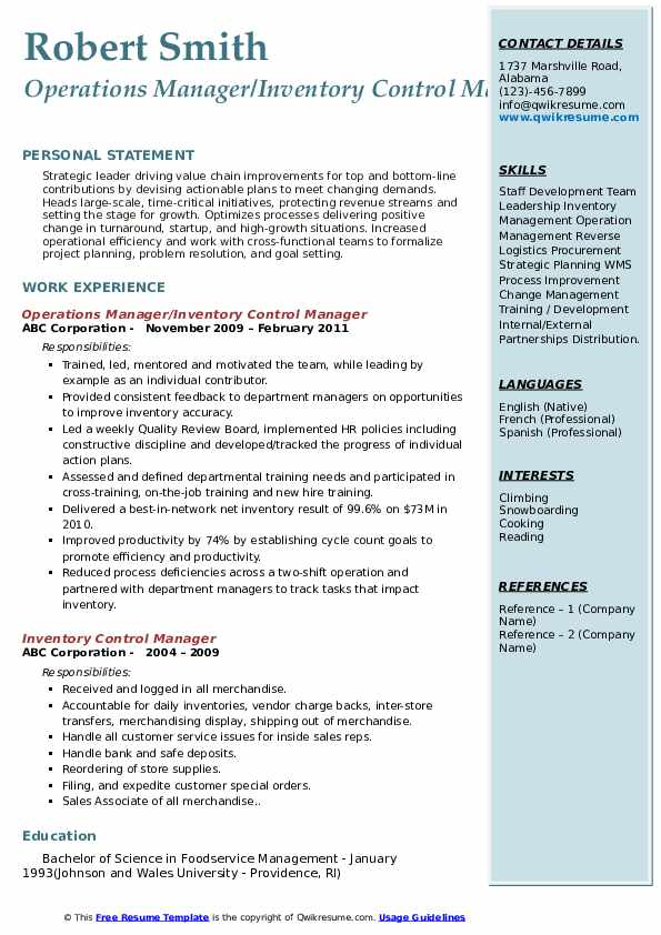 resume for startup example
