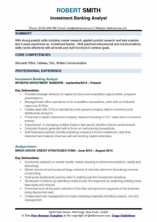 resume objective analyst