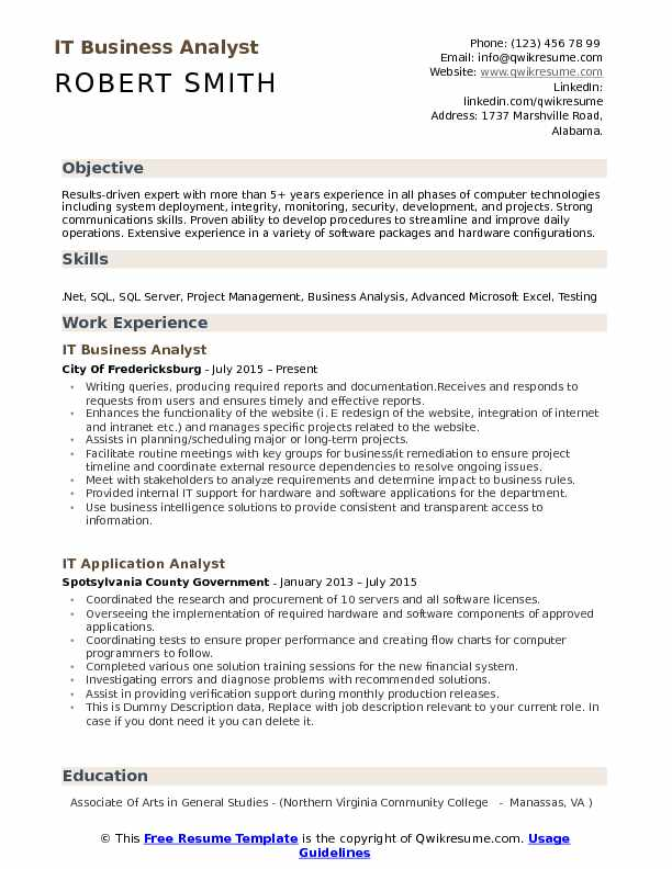 IT Business Analyst Resume Samples QwikResume - business analyst skills resume