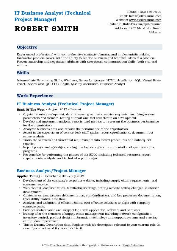 IT Business Analyst Resume Samples QwikResume - web business analyst sample resume
