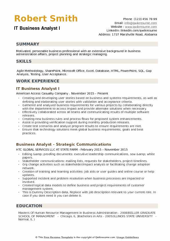 IT Business Analyst Resume Samples QwikResume - Sharepoint Business Analyst Sample Resume