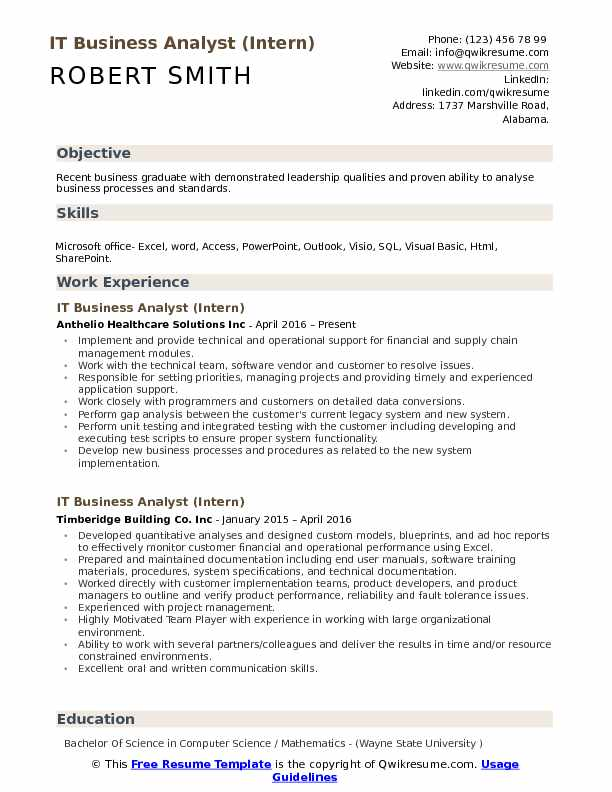 IT Business Analyst Resume Samples QwikResume - business analyst objective