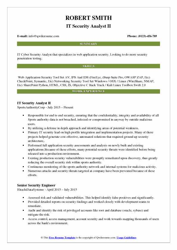 IT Security Analyst Resume Samples QwikResume - it security resume
