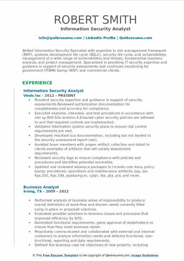 IT Security Analyst Resume Samples QwikResume - cyber security resume