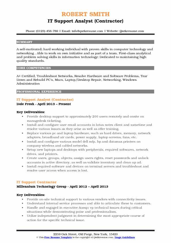 IT Support Analyst Resume Samples QwikResume - software support analyst sample resume