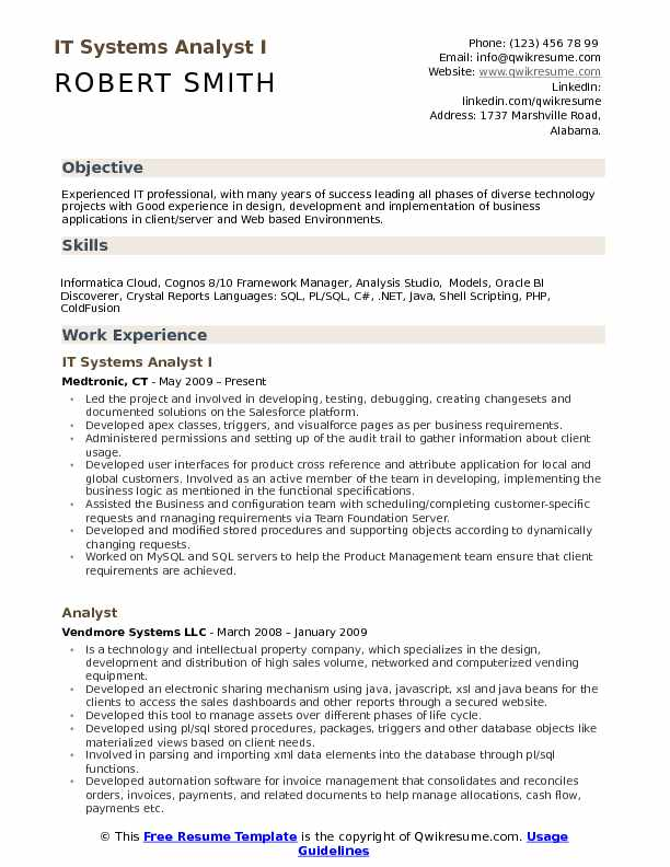 informatica cloud sample resume