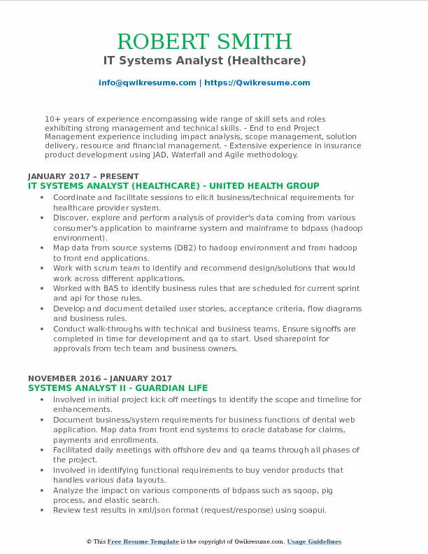 IT Systems Analyst Resume Samples QwikResume - financial systems analyst sample resume