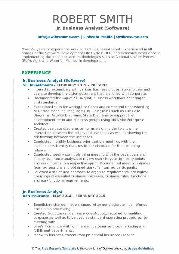 Jr Business Analyst Resume Samples QwikResume - agile business analyst sample resume