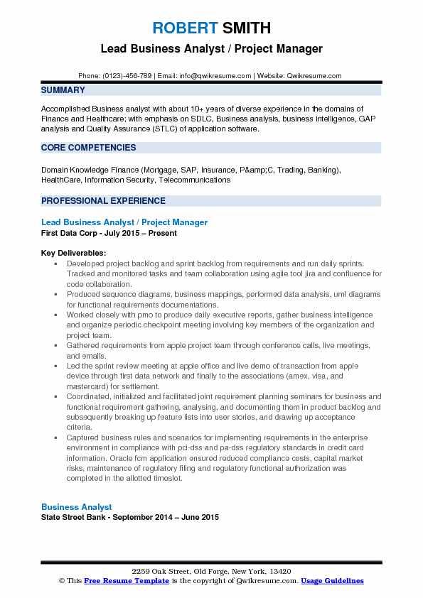 resume sprint