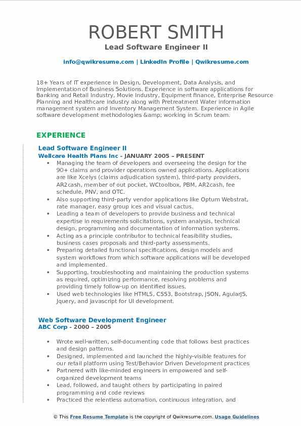 pocket resume samples
