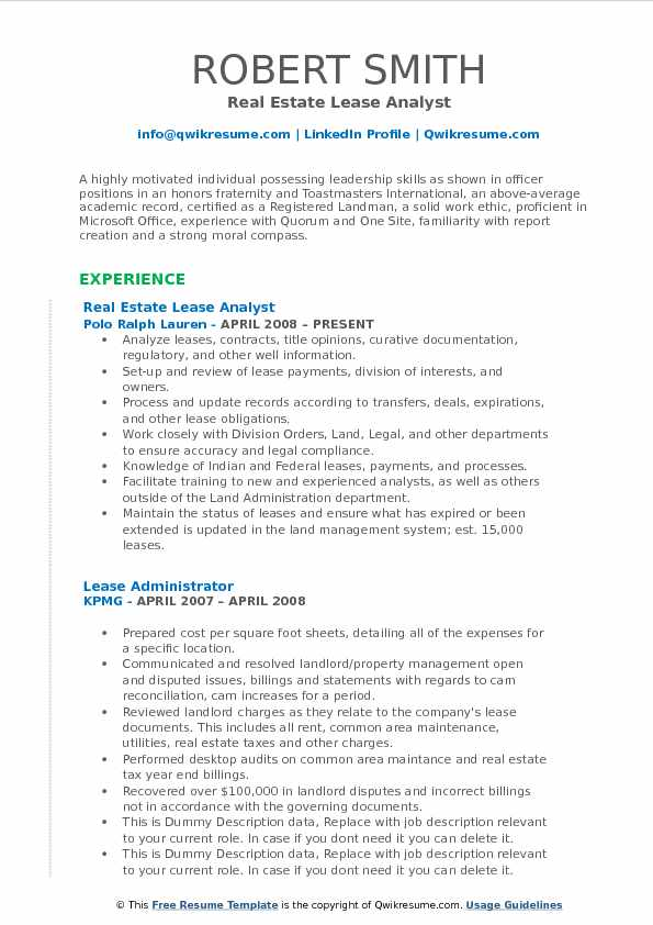 Lease Analyst Resume Samples QwikResume - fraternity on resume