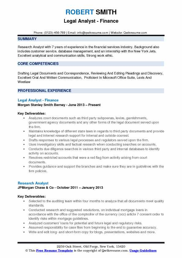 Legal Analyst Resume Samples QwikResume - bankruptcy analyst sample resume