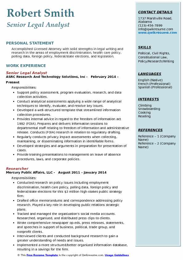Legal Analyst Resume Samples QwikResume - legislative analyst sample resume