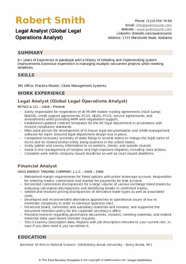 sample credit analyst resume