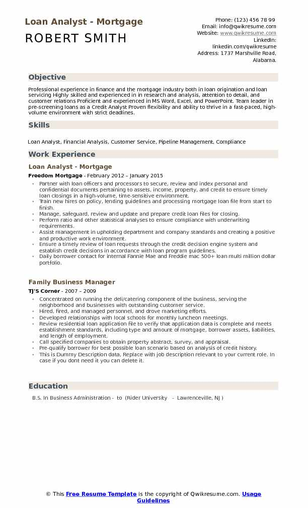Loan Analyst Resume Samples QwikResume - loan modification specialist sample resume