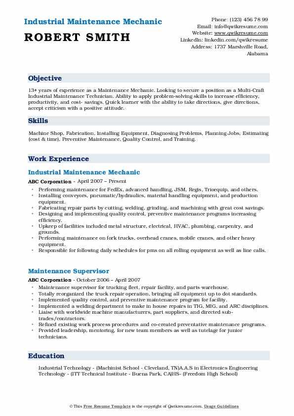 grounds maintenance sample resume