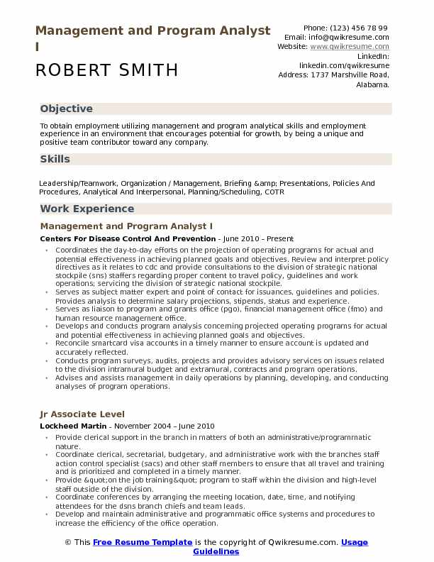 Management and Program Analyst Resume Samples QwikResume - Program Analyst Resume