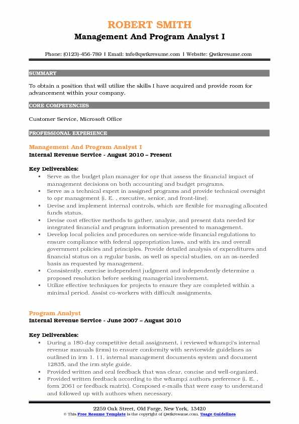 Management and Program Analyst Resume Samples QwikResume - legislative analyst sample resume