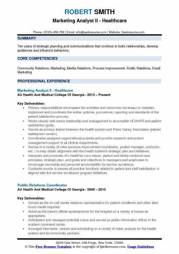 Marketing Analyst Resume Samples QwikResume - public relations analyst resume