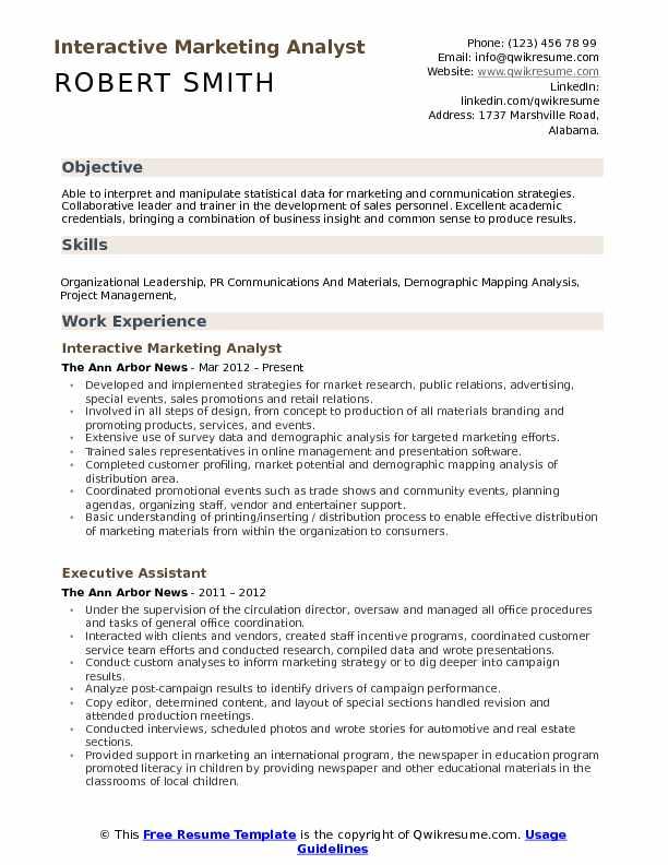 Marketing Analyst Resume Samples QwikResume - marketing analyst resume
