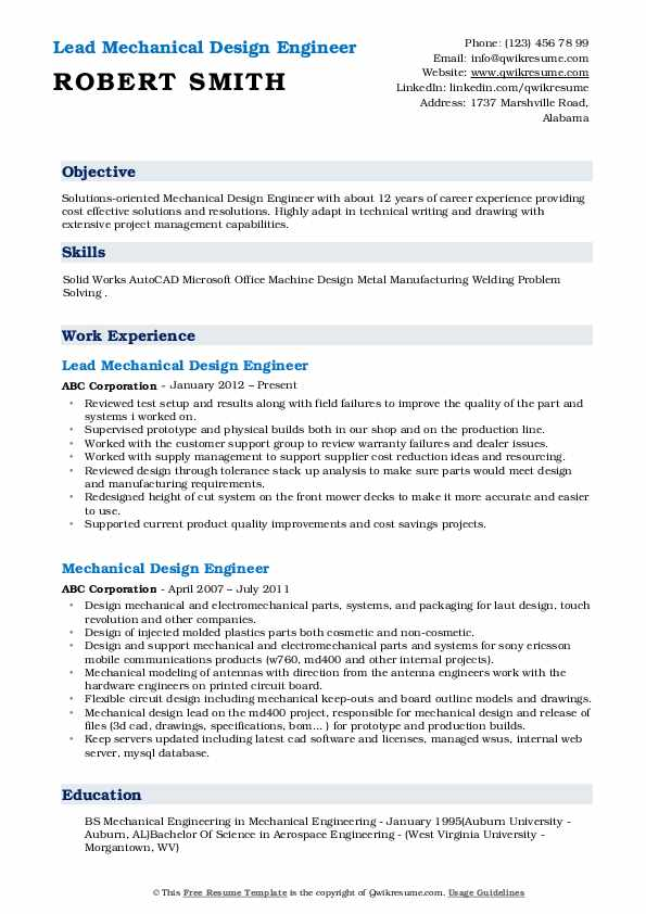 tolerance stack analysis resume sample