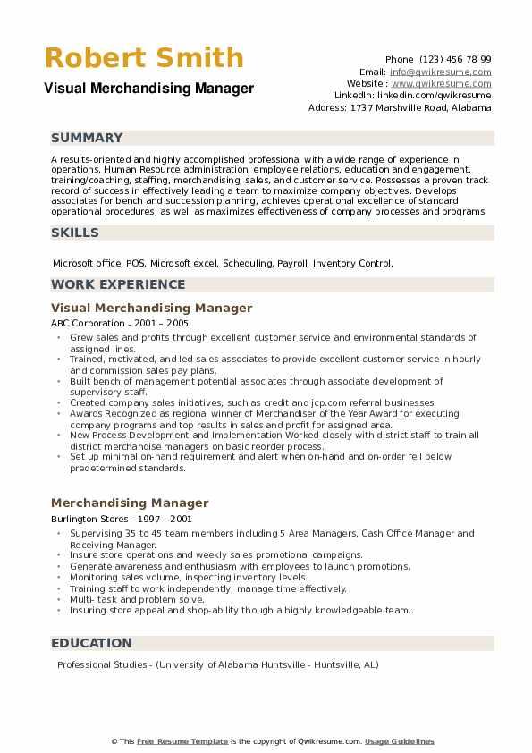 resume samples manager resume