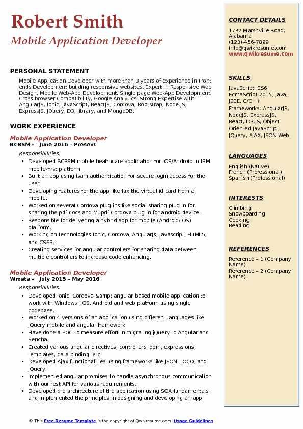 reactjs nodejs developer sample resume