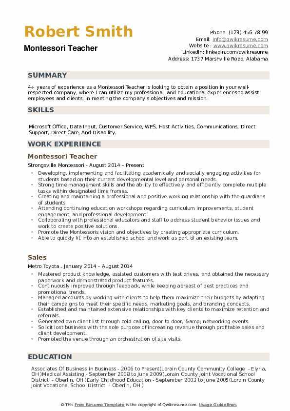 guide cv pdf