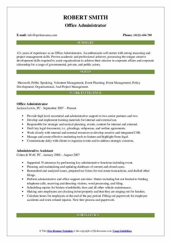 achiever resume samples
