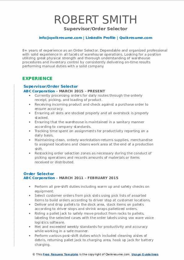 rf scanner resume sample