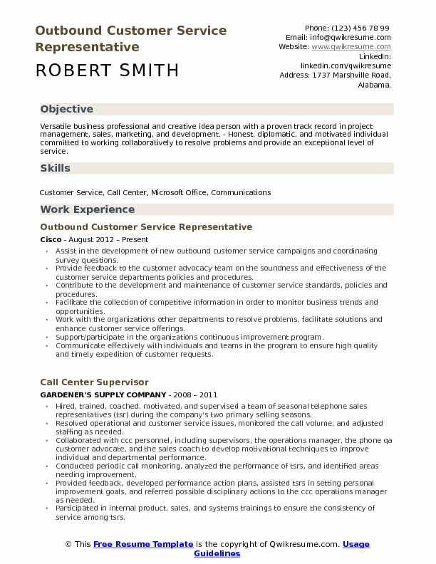 Outbound Customer Service Representative Resume Samples QwikResume - Examples Of Customer Service Representative Resumes