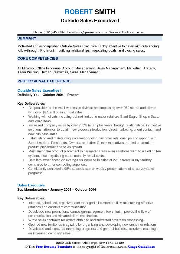 Outside Sales Executive Resume Samples QwikResume - outside sales resume