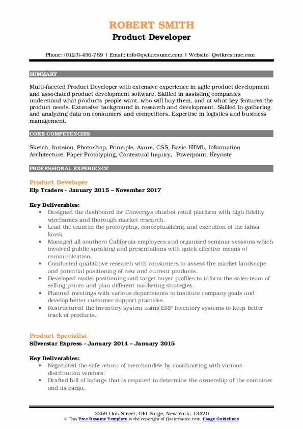 axure ba sample resume